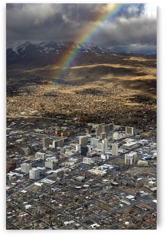 Rainbow Over Downtown Reno by Evan Petty Photography