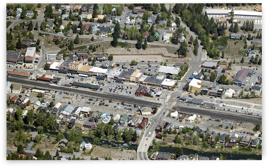 Downtown Truckee Aerial View by Evan Petty Photography