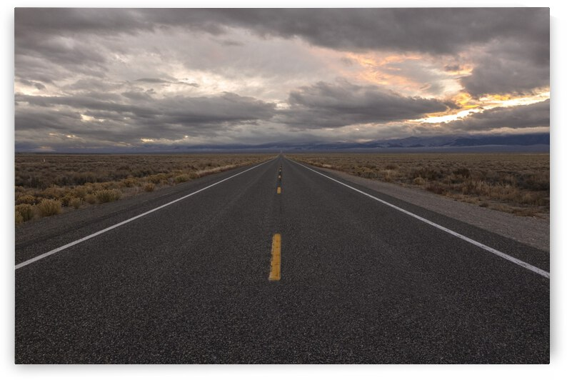 Open Highway in Nevada by Evan Petty Photography