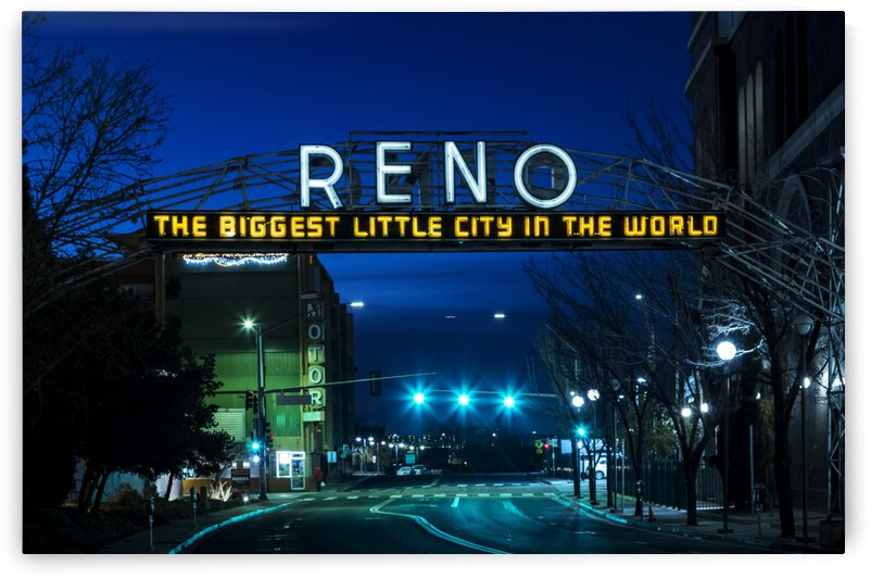 Reno Old Historic Downtown Sign by Evan Petty Photography
