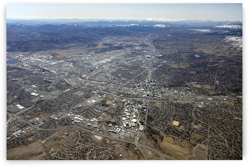 Aerial View of Reno and Sparks by Evan Petty Photography