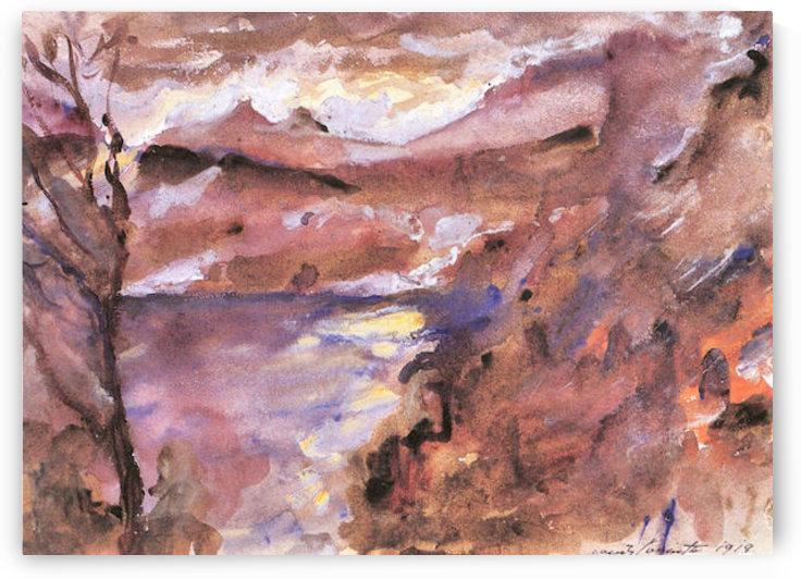 Walchensee -5- by Lovis Corinth by Lovis Corinth