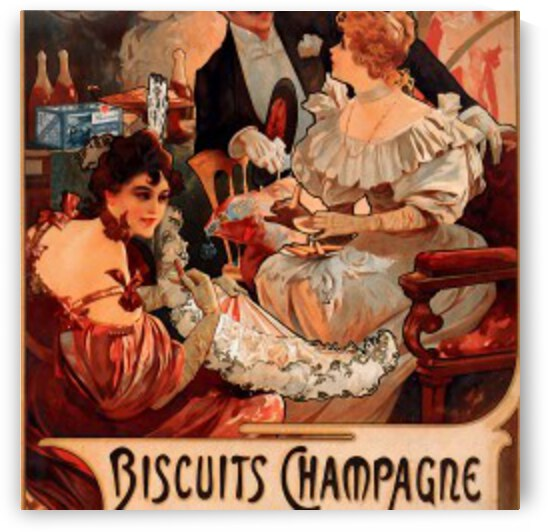 Buscuits, Lefevre-Utile 2 by Alphonse Mucha by VINTAGE POSTER