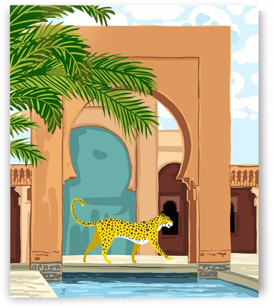 Cheetah Under The Moroccan Arch by 83 Oranges