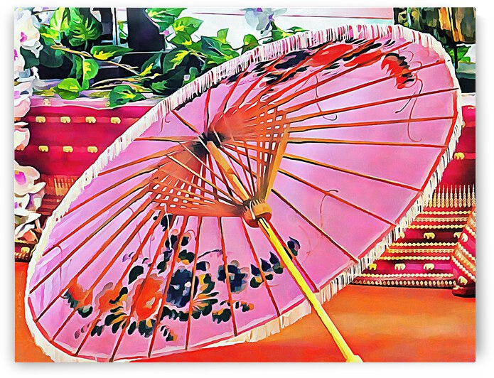 Oriental Pink Parasol by Dorothy Berry-Lound