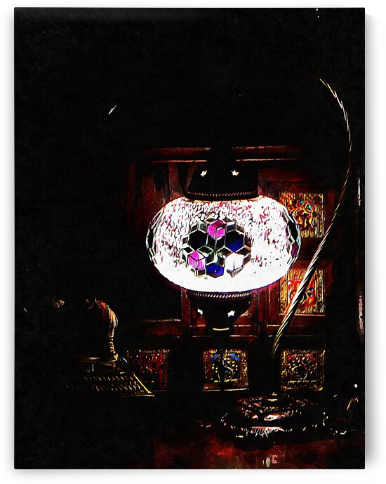 Lilac Oriental Mosaic Lamp by Dorothy Berry-Lound
