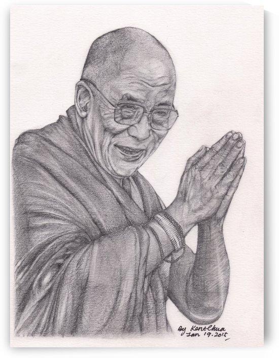 Dalai Lama Tenzin Gaytso by Kent Chua