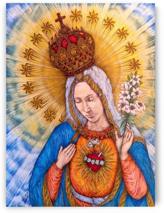 Immaculate Heart Of Virgin Mary by Kent Chua