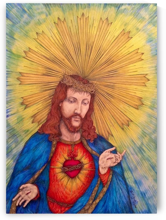 Scared Heart Of Jesus Christ by Kent Chua