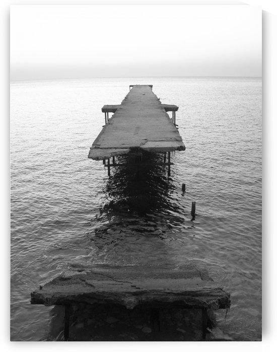 Damaged bridge in Black Sea waters near Bulgarian shore by Vlad Radulian