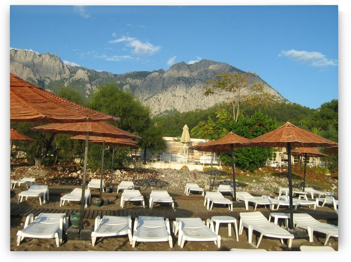 Mountain view from a beach near Kemer, Antalya, Turkey by Vlad Radulian