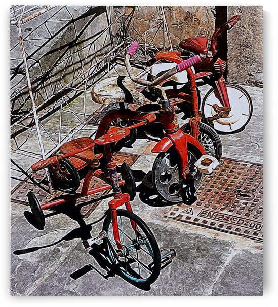 Italian Toy Antique Tricycles by Dorothy Berry-Lound