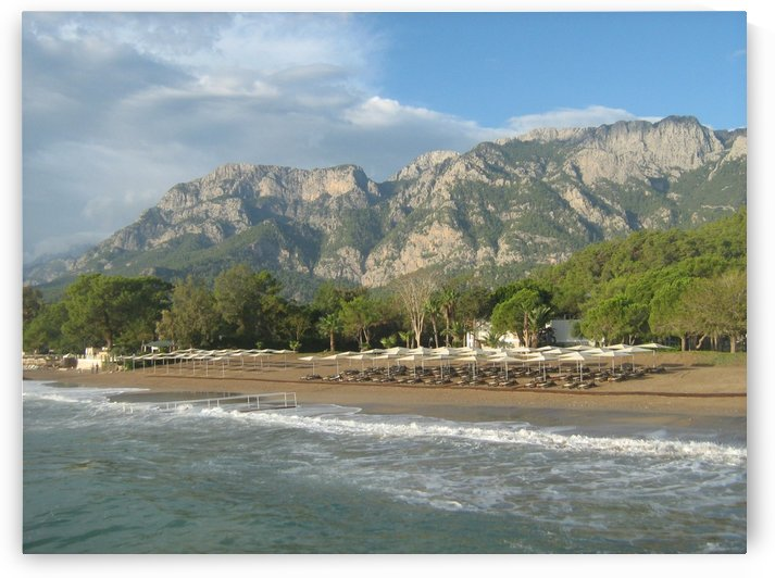 Tahtali mountain view from a beach near Kemer, Turkey by Vlad Radulian