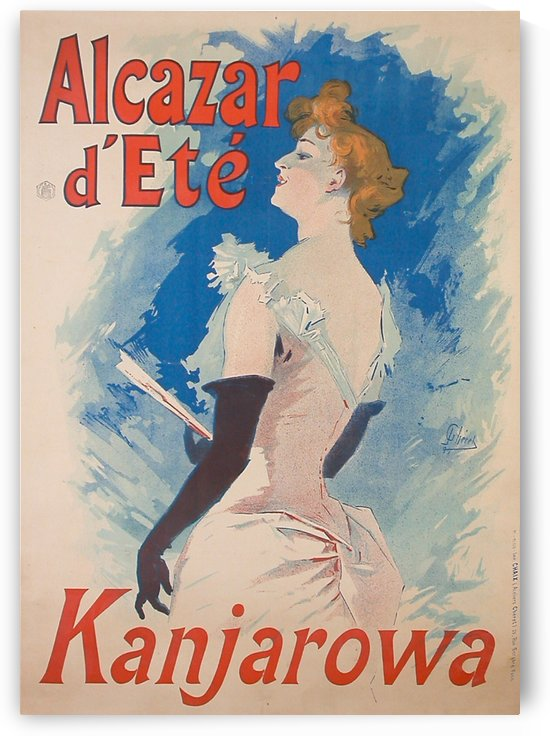 Alcazar DEte Kanjarowa Original French Poster by VINTAGE POSTER