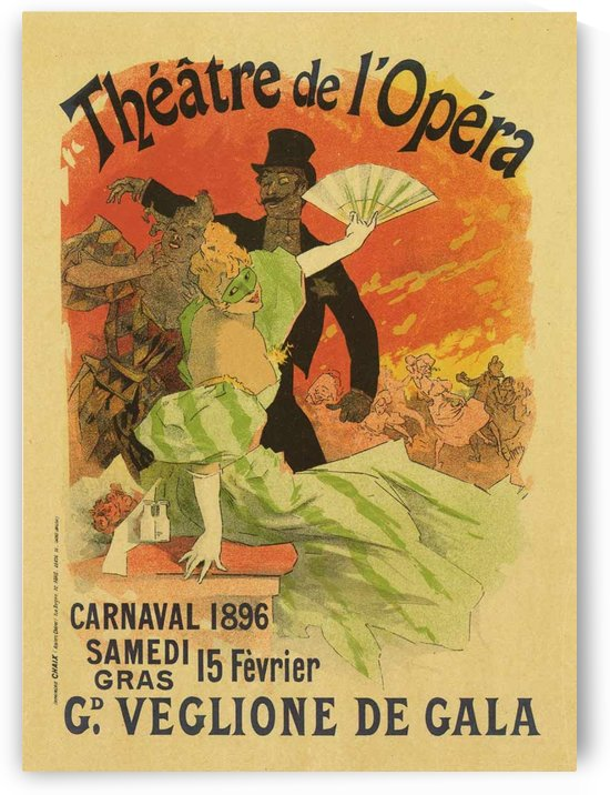 Theatre de Opera Carnaval 1896 original poster by VINTAGE POSTER