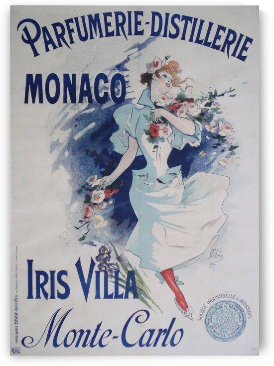 Poster Originale Parfumerie Villa Iris par Jules Cheret 1897 by VINTAGE POSTER