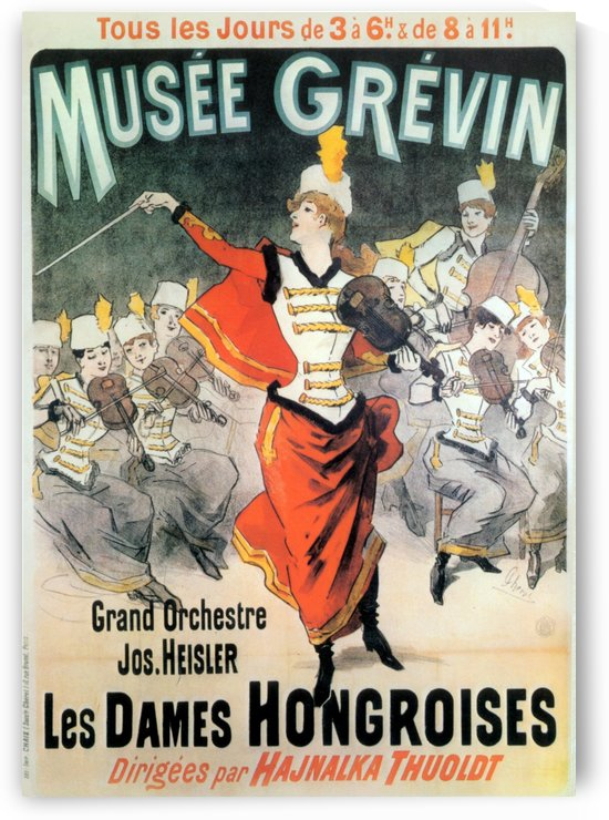 Musee Grevin Grand Orchestre Jos Heisler Jules Cheret 1888 by VINTAGE POSTER