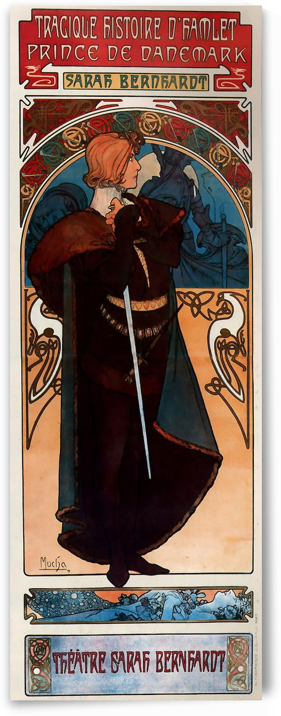Hamlet by Alphonse Mucha by VINTAGE POSTER