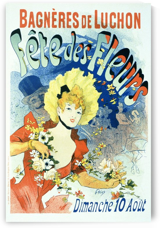 Fete des fleurs poster by VINTAGE POSTER