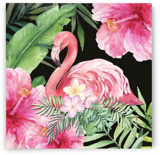 Pink Flamingo In Paradise by HH Photography of Florida