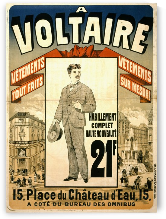 Advertising poster for a clothing shop showing by Jules Cheret by VINTAGE POSTER