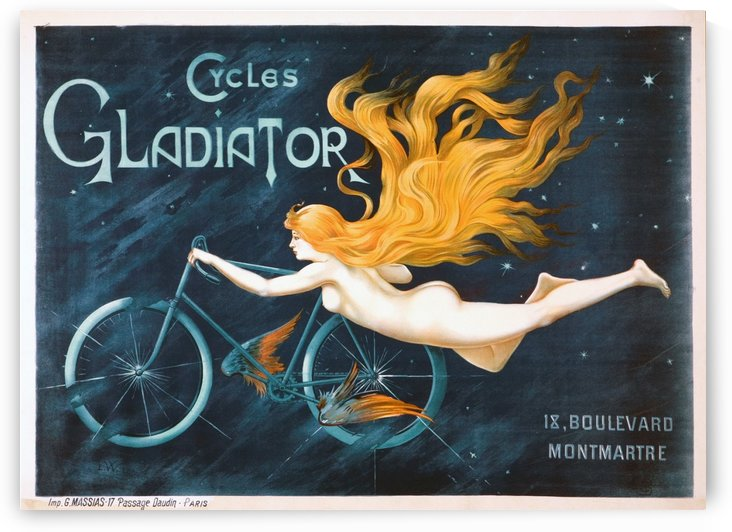 Cycles Gladiator Blue Poster by VINTAGE POSTER