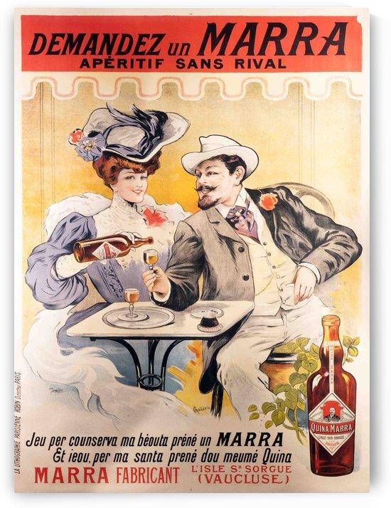 Demandez un Marra - Aperitif sans rival French Poster by VINTAGE POSTER