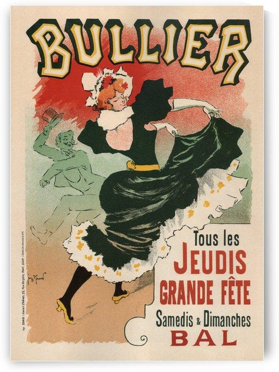 Bullier Theater Vintage Poster Art Nouveau Style 1899 by VINTAGE POSTER