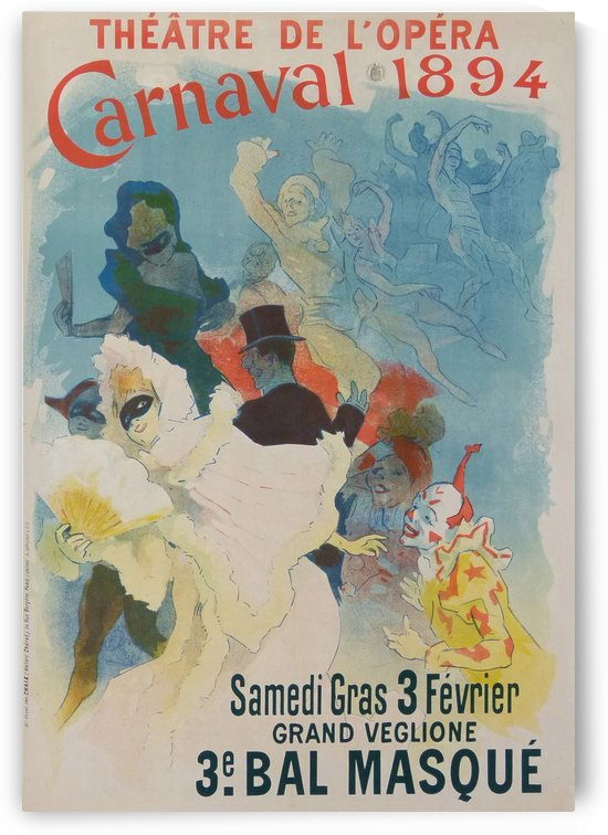 Theatre de Opera Carnaval 1894 original poster by VINTAGE POSTER