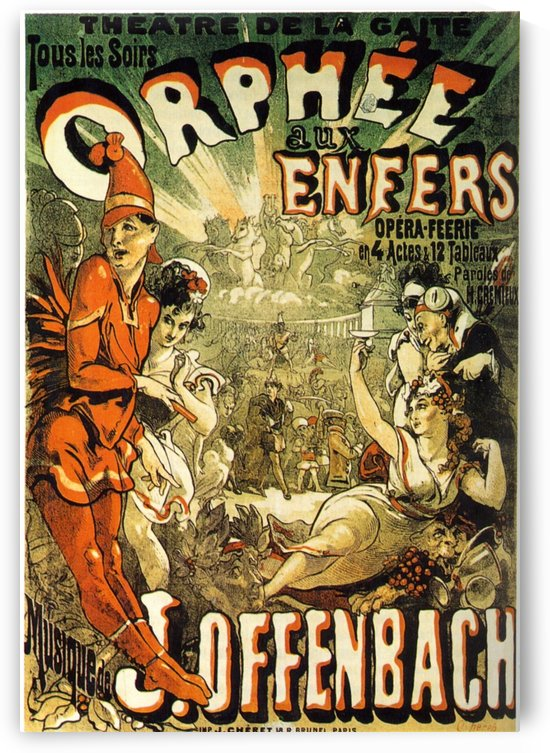 Orphee aux Enfers original poster by VINTAGE POSTER
