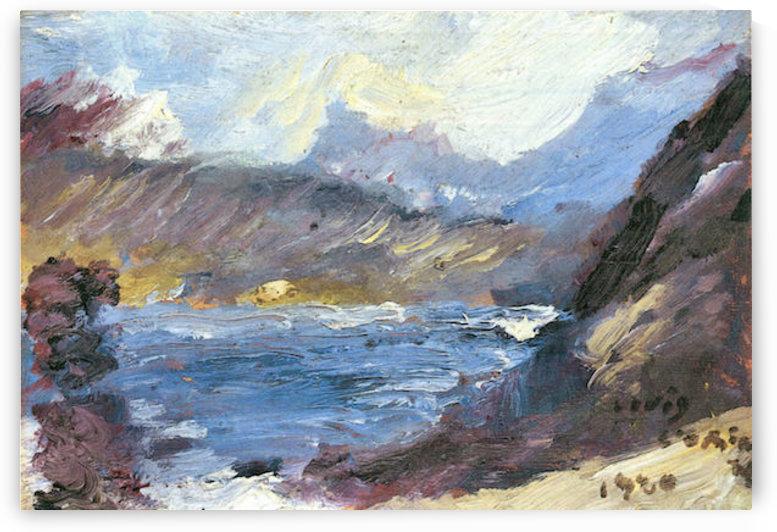 Walchensee -8- by Lovis Corinth by Lovis Corinth