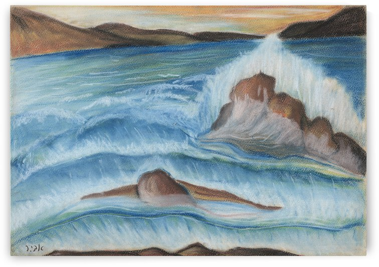 RA 002 - גל מתנפץ - crashing wave by Avi Romano Art