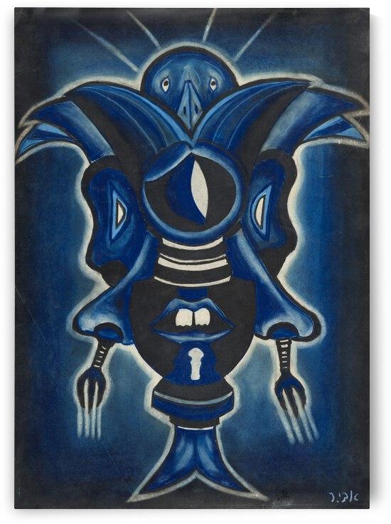 RA 005 - כחול כנף - Blue wing by Avi Romano Art