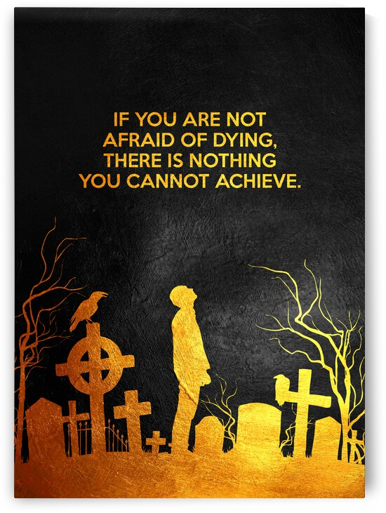 Laugh at Death Motivational Wall Art by ABConcepts