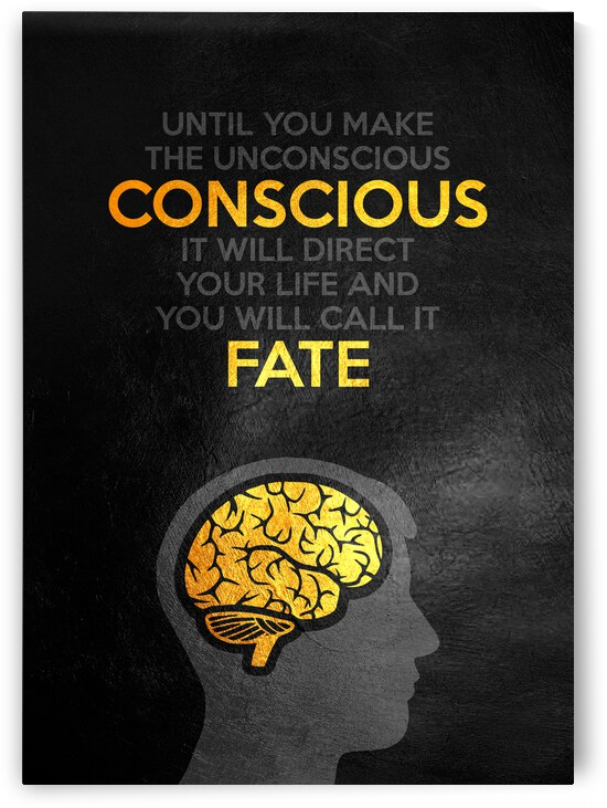 Conscious Fate Motivational Wall Art by ABConcepts