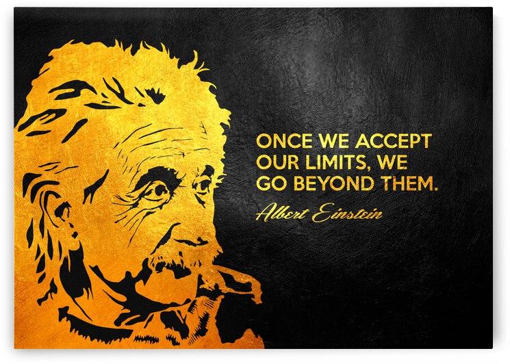 Albert Einstein Limits Motivational Wall Art by ABConcepts
