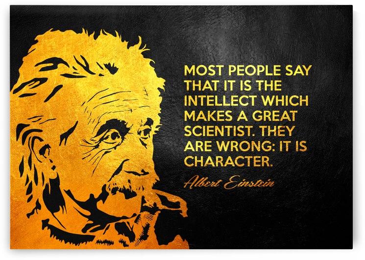 Albert Einstein Character Motivational Wall Art by ABConcepts