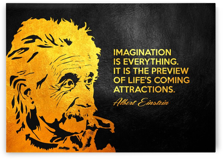 Albert Einstein Imagination Motivational Wall Art by ABConcepts