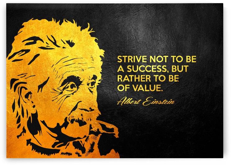 Albert Einstein Value Motivational Wall Art by ABConcepts