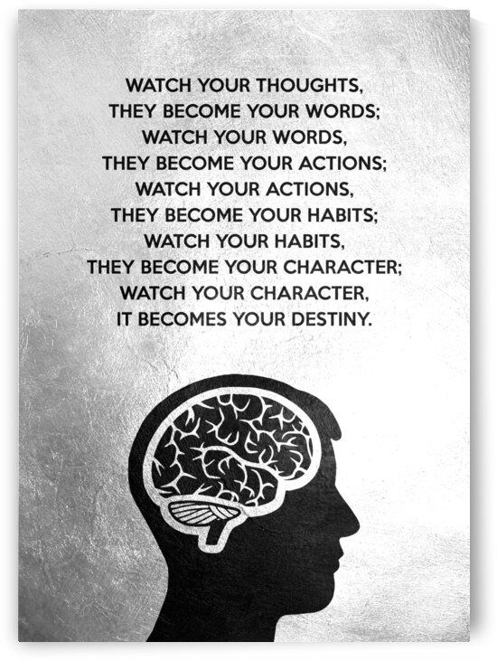 Watch your thoughts Motivational Wall Art by ABConcepts