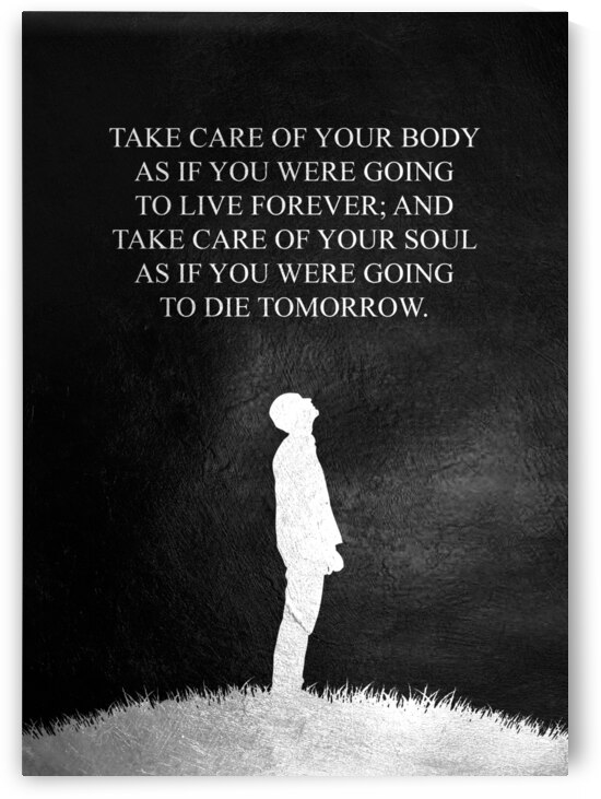 Take care of your body and soul Motivational Wall Art by ABConcepts