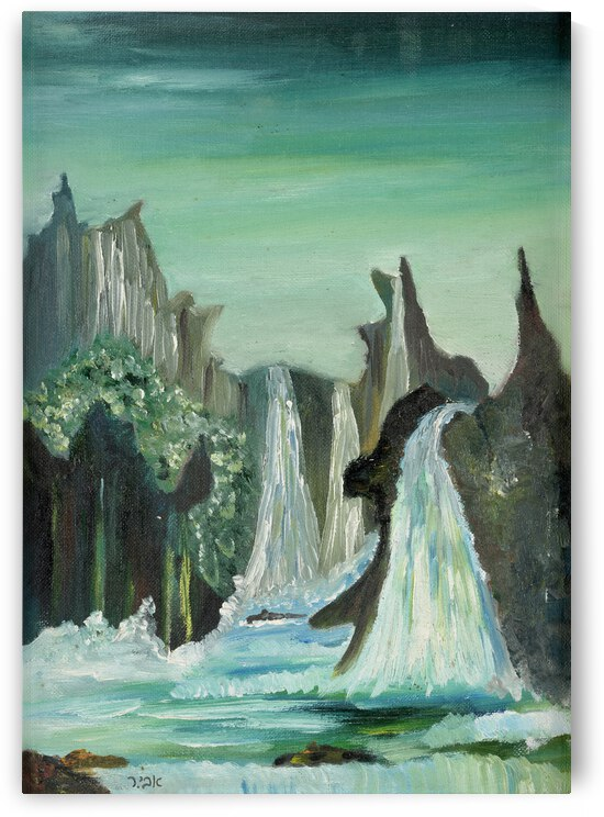 RA 024 0 - פלגי מים - water streams by Avi Romano Art