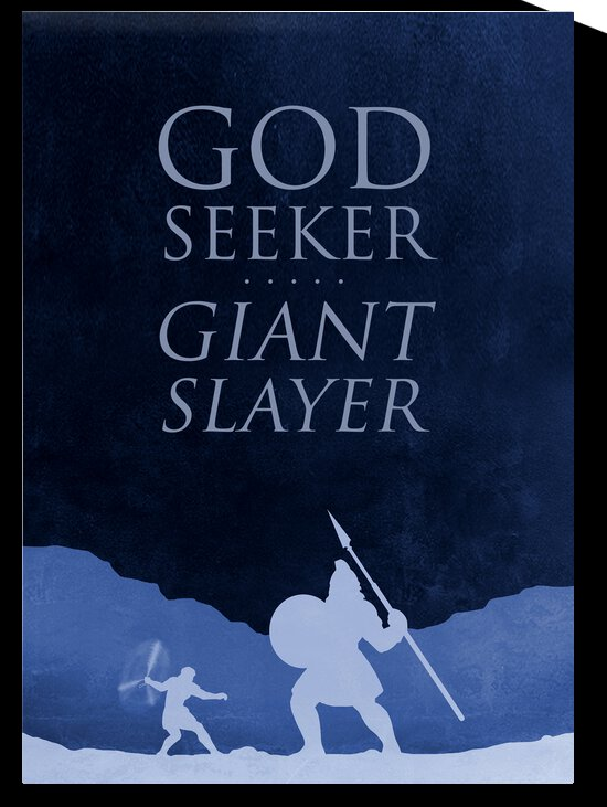 God Seeker Giant Slayer Motivational Wall Art by ABConcepts