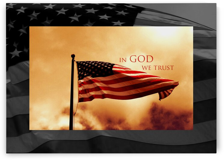 In God We Trust Motivational Wall Art by ABConcepts