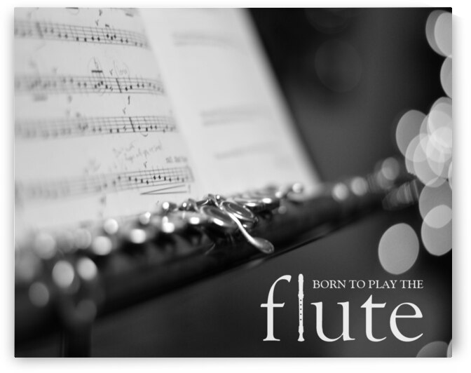 Born to Play the Flute Motivational Wall Art by ABConcepts