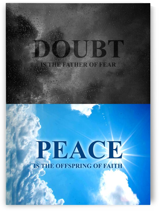 Doubt and Peace Motivational Wall Art by ABConcepts