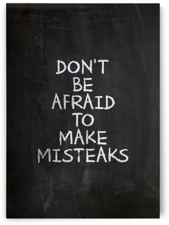 Mistakes Motivational Wall Art by ABConcepts