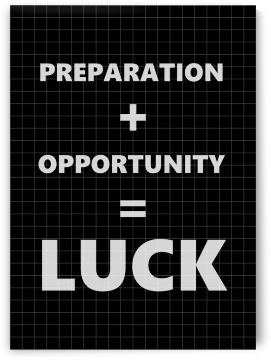 LUCK Equation Motivational Wall Art by ABConcepts