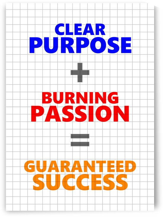 Success Equation Motivational Wall Art by ABConcepts
