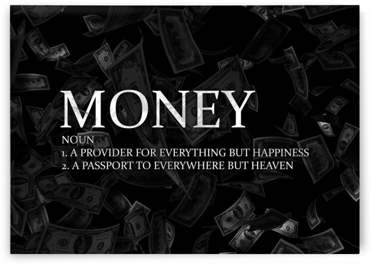 Money Definition Motivational Wall Art by ABConcepts